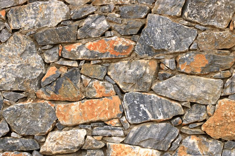 Big gray wall from stone bricks royalty free stock images