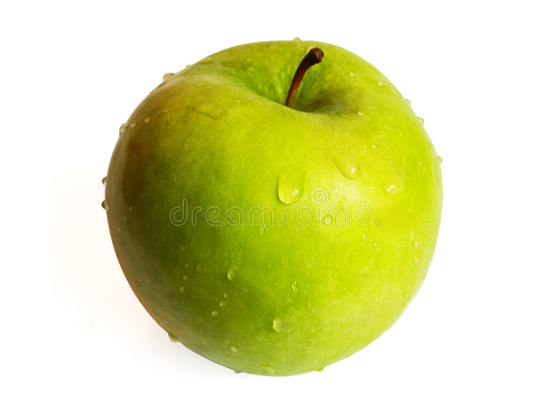 Big green apple royalty free stock images