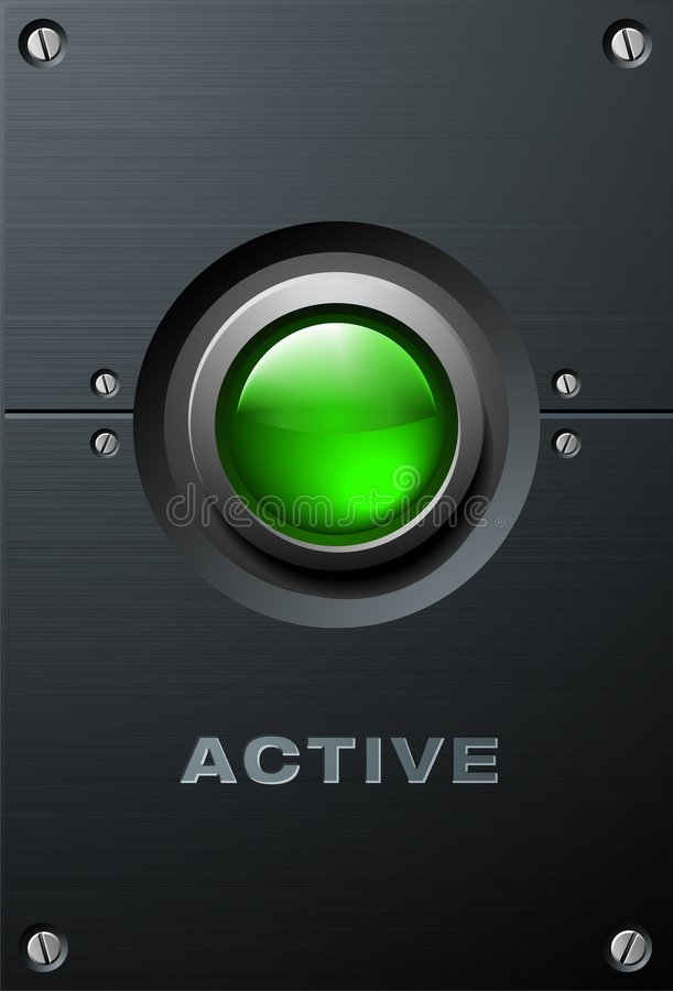 Big Green Button royalty free stock photography