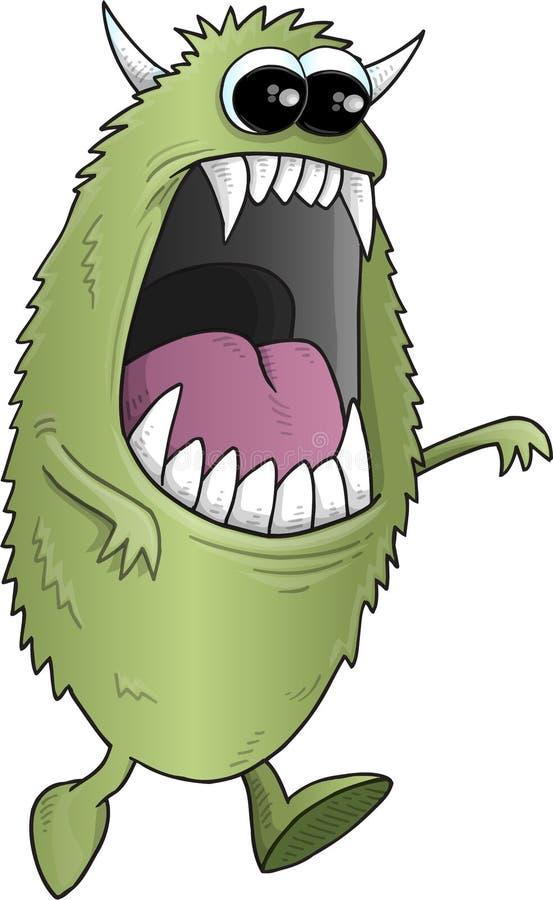 Big Green Halloween Monster. Vector Illustration Art vector illustration