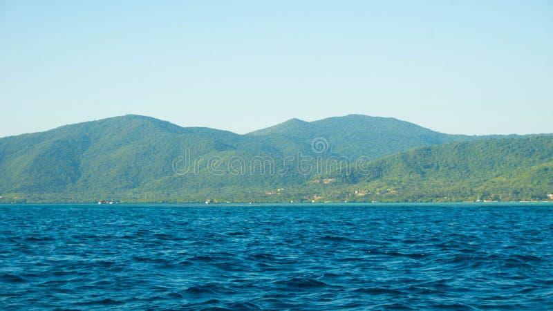 Dark Deep Ocean Blue Sea Panorama Stock Photos