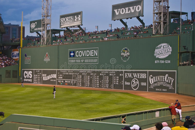 Download The Big Green Monster Fenway Park Editorial Image