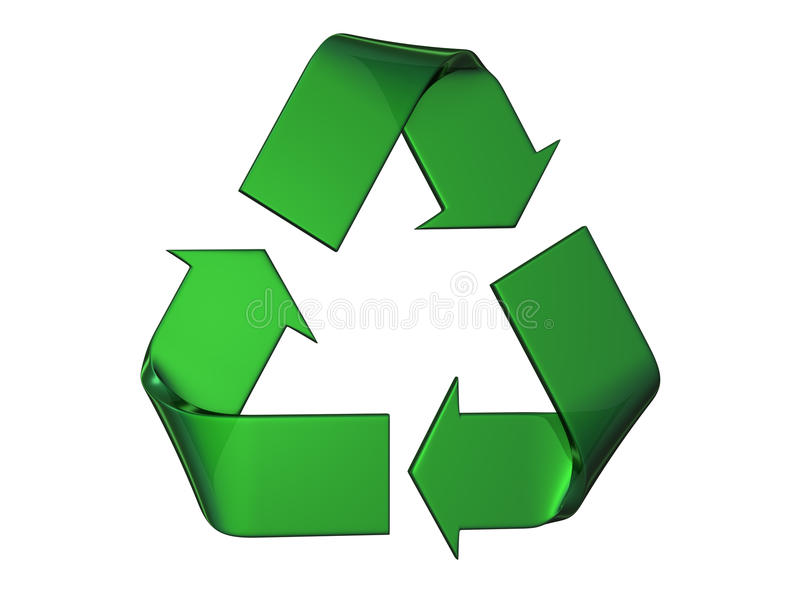 Big Green Recycle S Logo Royalty Free Stock Photos