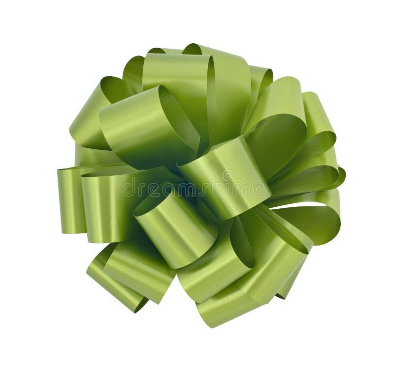 Big green ribbon bow cutout royalty free stock photo