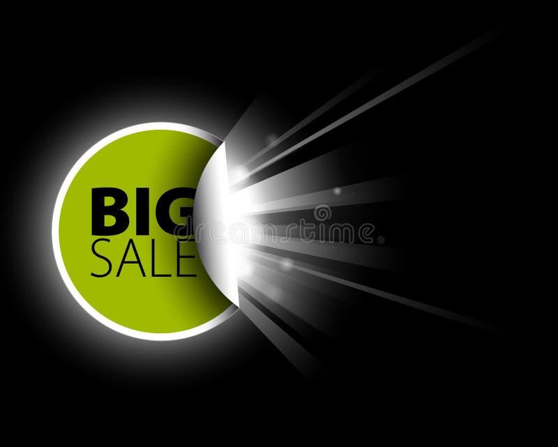 Download Big green sale label stock illustration. Image of design - 15216457