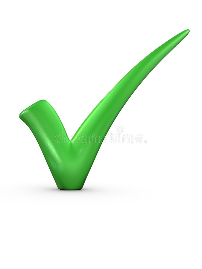 A big green tick royalty free stock photography