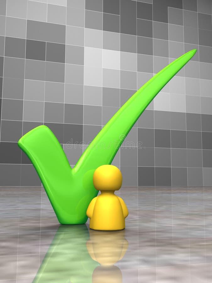 Big green tick stock illustration