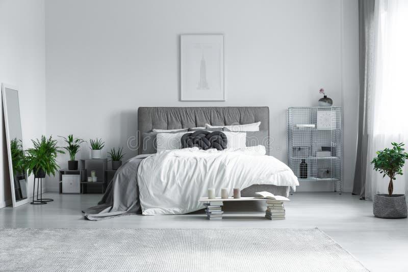 Big grey carpet stock photo