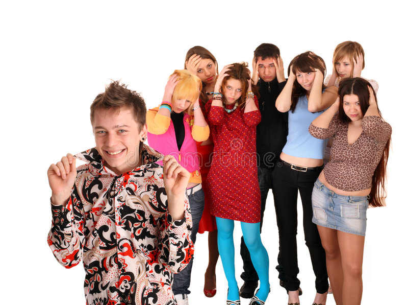 Download Big Group Of Teenager. Problem. Stock Photos - Image: 8362813