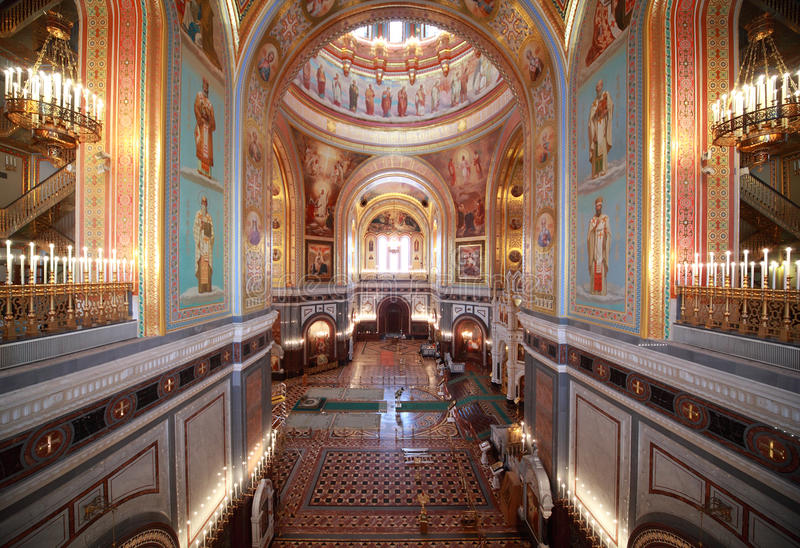 Download Big Hall Inside Cathedral Of Christ The Saviour Stock Image - Image: 19152791