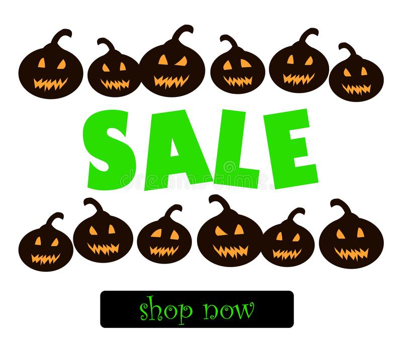 Big halloween sale. Shop now! royalty free stock images