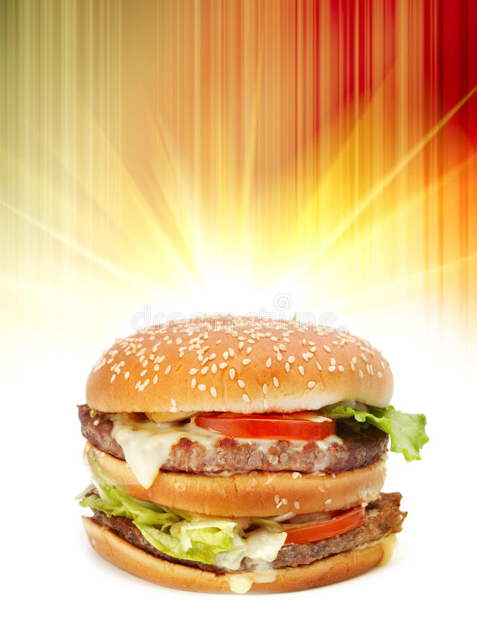 Download Big Hamburger Royalty Free Stock Image - Image: 20398856