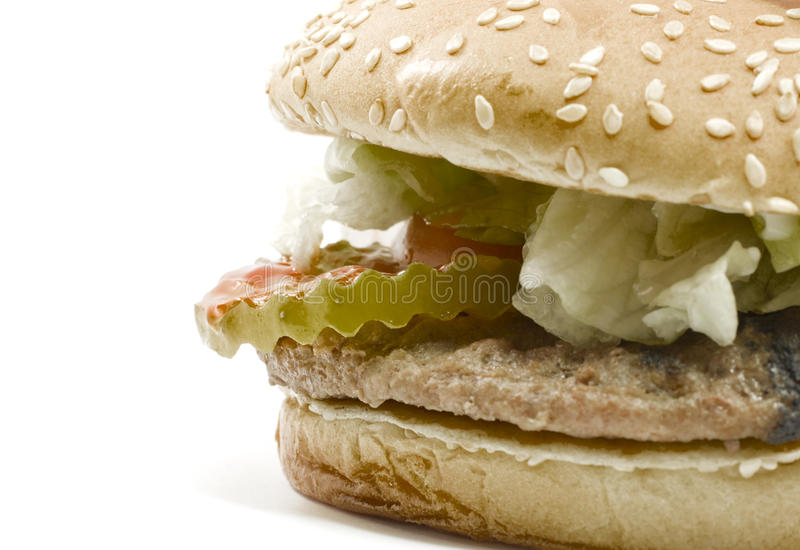 Big Hamburger with all the Fixin's stock photography
