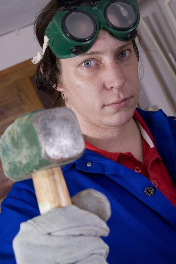 Download Big hammer far stock photo. Image of handyman, male, work - 2351016