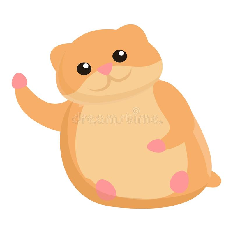 Big hamster icon, cartoon style. Big hamster icon. Cartoon of big hamster vector icon for web design isolated on white background vector illustration