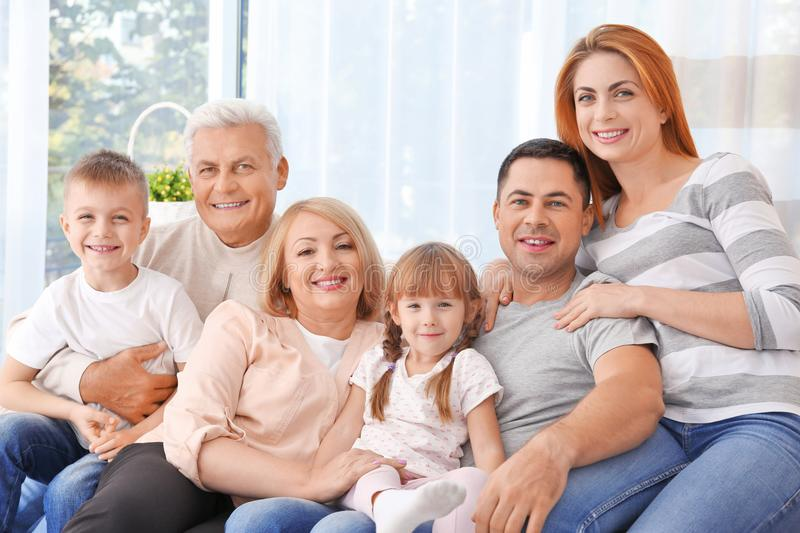 Big happy family royalty free stock image