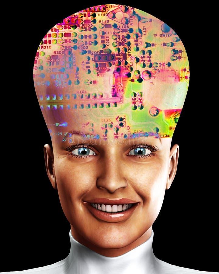 Download Big Head 15 stock illustration. Image of emotion, circuit - 2524900