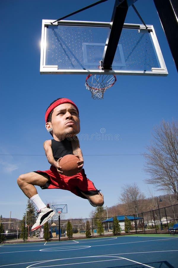 Big Head Basketball Player Stock Images