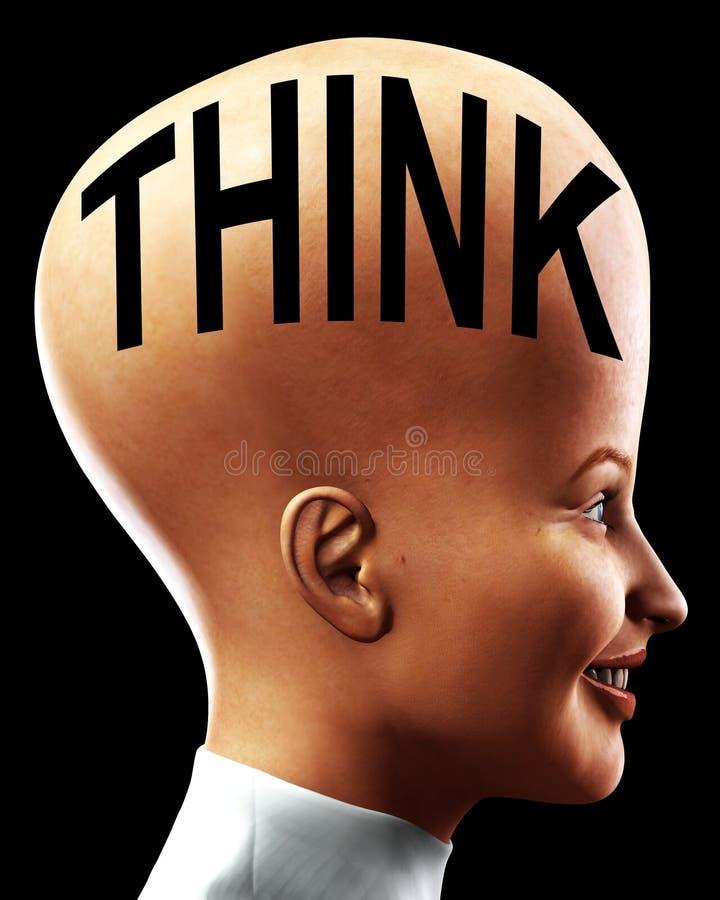 Download Big Head Thinking 5 stock illustration. Image of eyes - 2665183