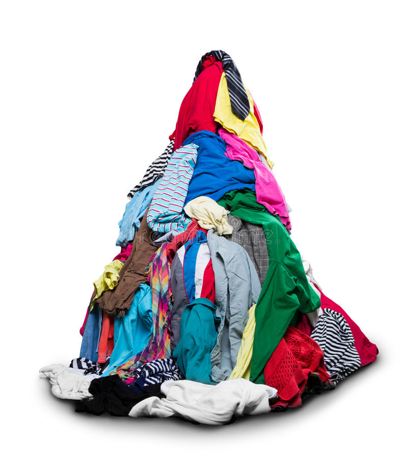 Big heap of colorful clothes royalty free stock photography