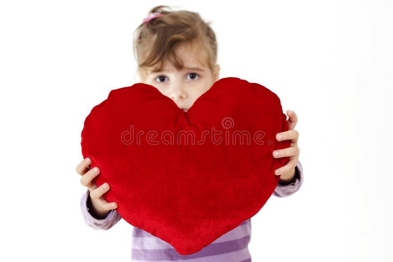 Download Big heart stock photo. Image of focus, shape, pillow - 12111662