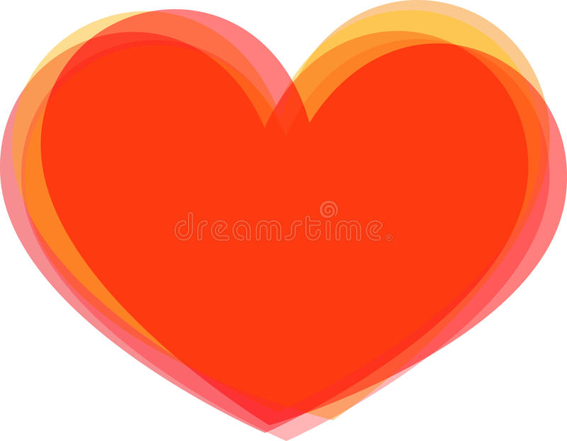 Download Big heart stock vector. Image of feminine, passion, romantic - 23885627