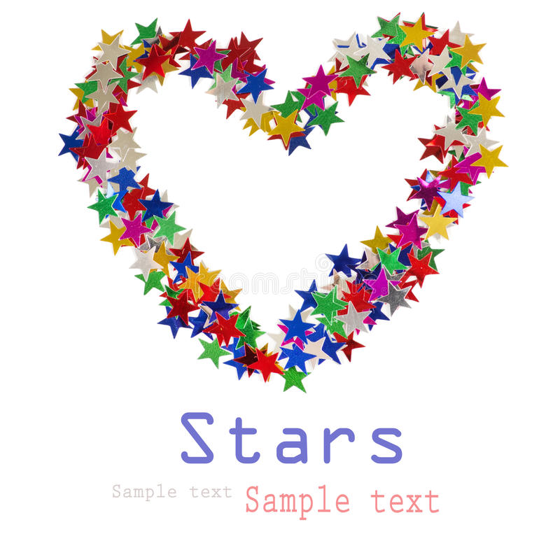 Download Big Heart Composed Of Many Colored Stars Stock Photo - Image: 26609878