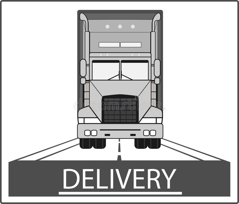 Download Big heavy truck on road stock vector. Image of load, safety - 32803695