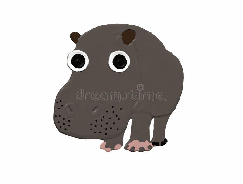 Big hippopotamus stock photo