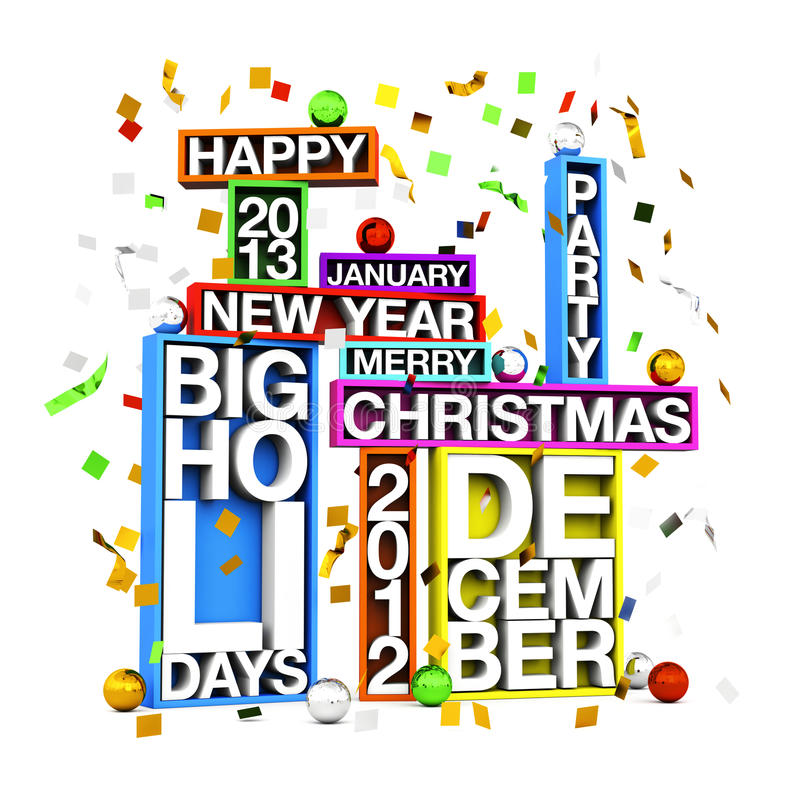 Big Holidays stock illustration