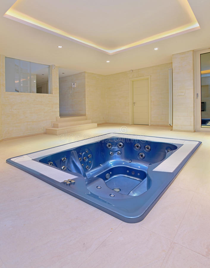 Big hot tub stock photo