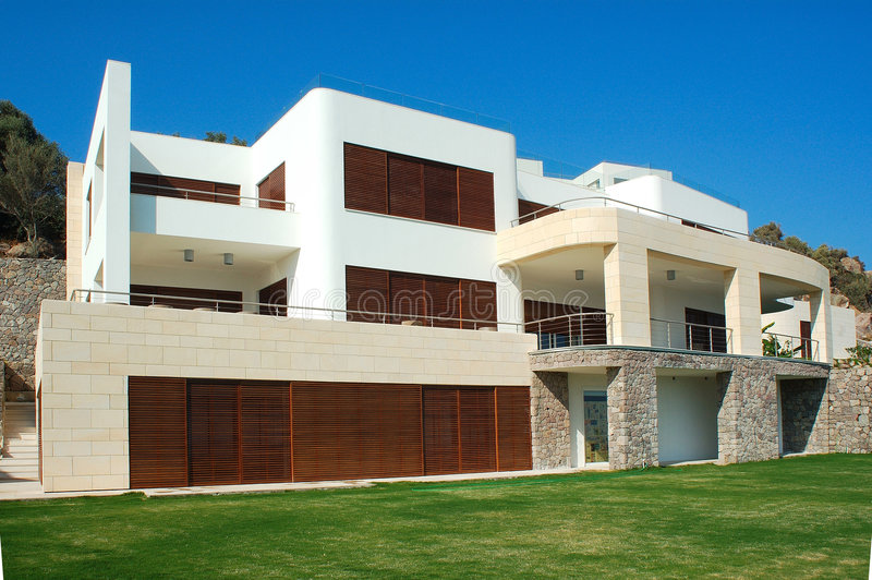 Big House. Exterior of large, luxury villa