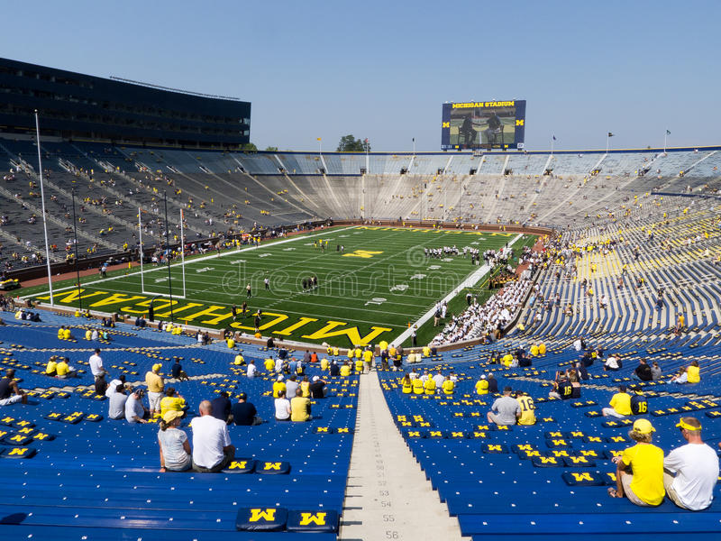 Big House Gets New Scoreboards Editorial Image