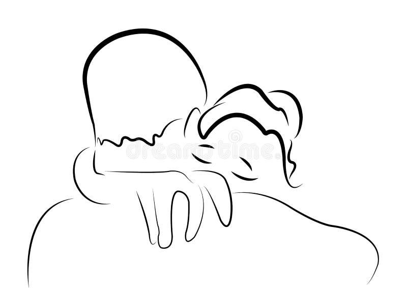Download Big hug sketch, vector stock vector. Illustration of female - 29415848