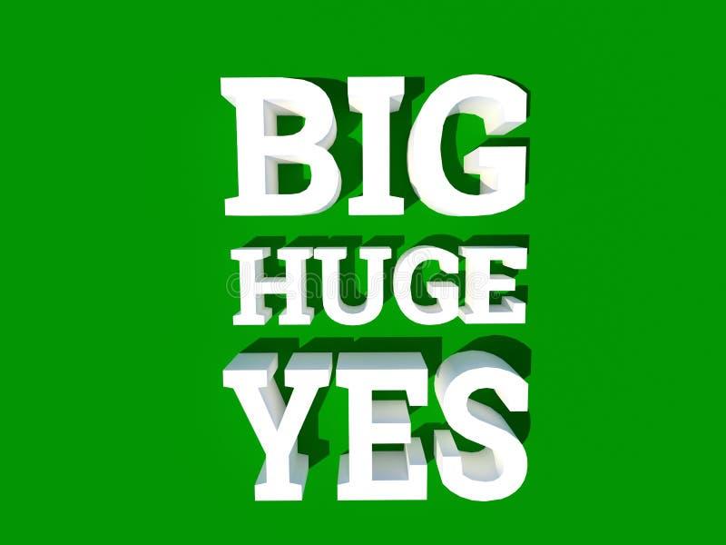 Big huge yes approval poster concept stock illustration