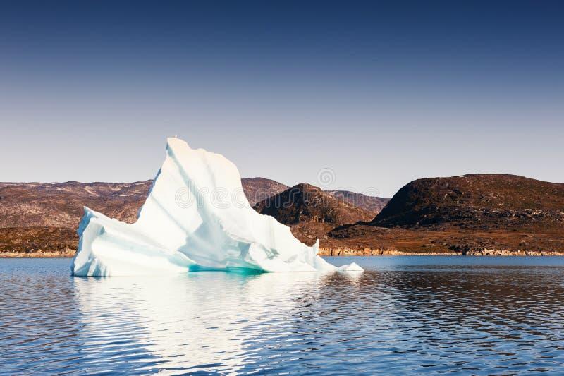 Iceberg in Greenland. Big iceberg floating near Disco island, western Greenland stock image