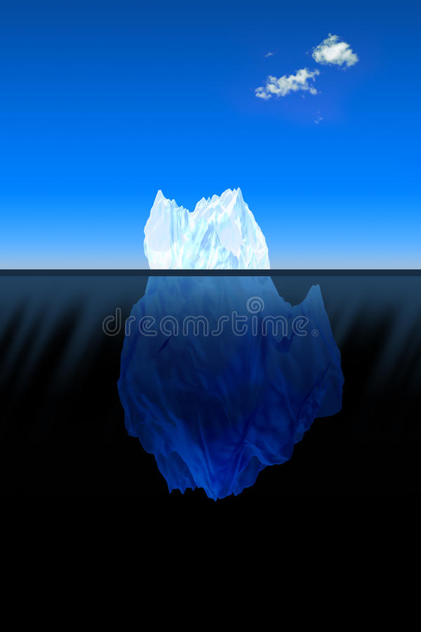 Download Big iceberg in the ocean stock illustration. Image of blue - 12968403