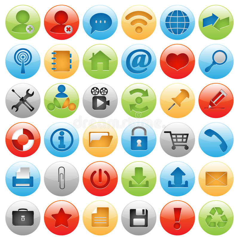 Free Big Icon Set For Web Design Stock Images - 19529944