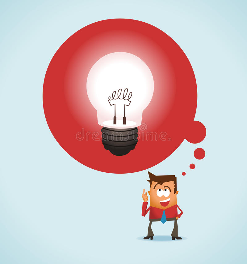 Download Big Idea stock illustration. Image of inventor, spark - 25250472