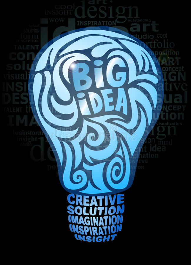 Download Big idea concept stock vector. Image of blue, black, style - 26110703