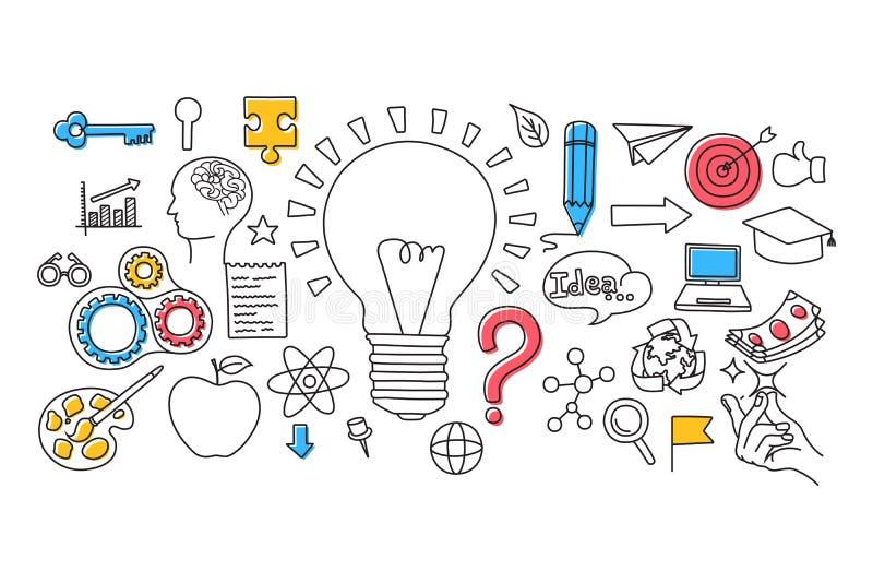 Big Idea Concept For Web Design Template Stock Vector - Illustration ...
