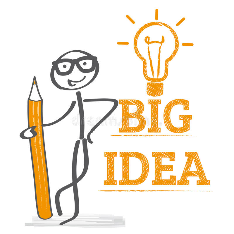 Big Idea Illustration stock illustration