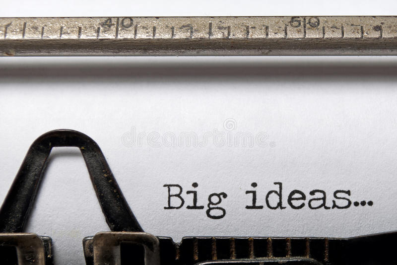 Download Big ideas stock photo. Image of typed, innovation, business - 22105078