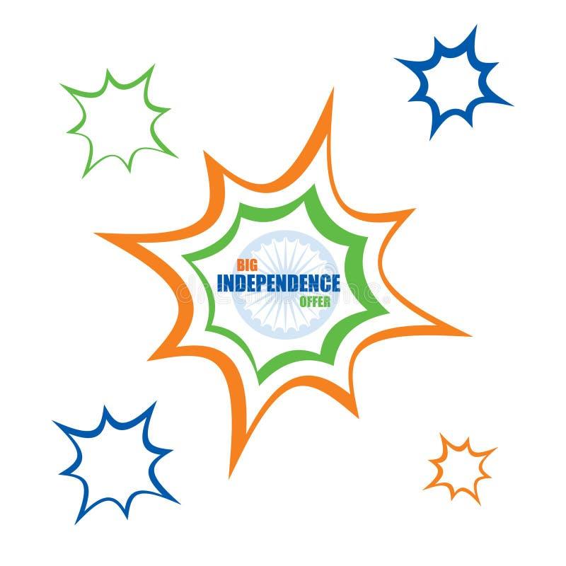 Big independence day offer banner design royalty free illustration