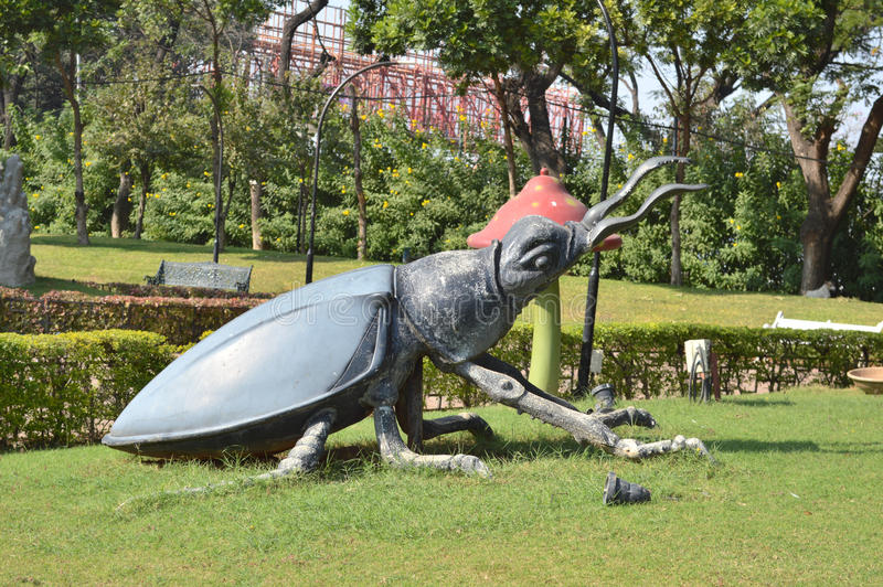 Big Insect Statue At NTR Garden, Hyderabad Editorial Stock Image ...