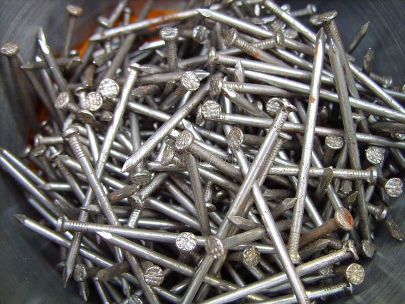 Big iron nails stock images