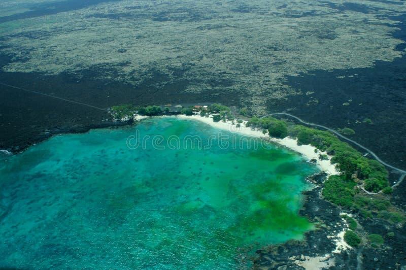 Big Island aerial shot - beach stock photography