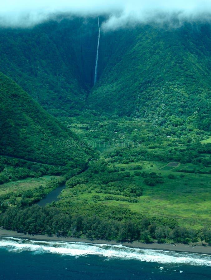 Download Big Island Aerial Shot - Coast Waterfalls Stock Image - Image: 1165469