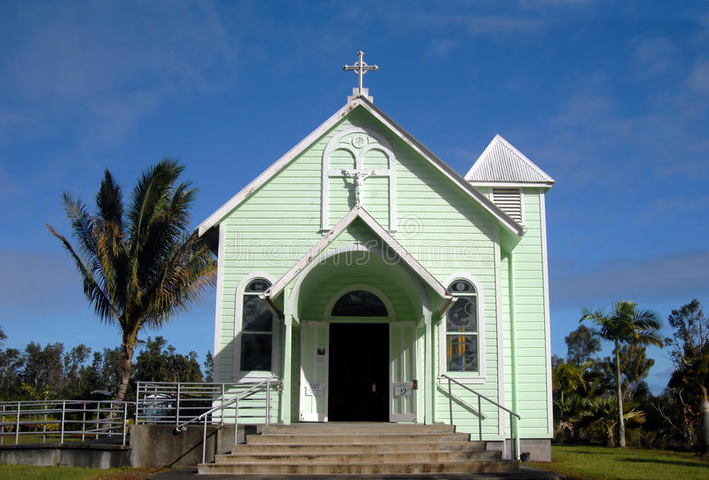 Big Island Painted Church royalty free stock photography