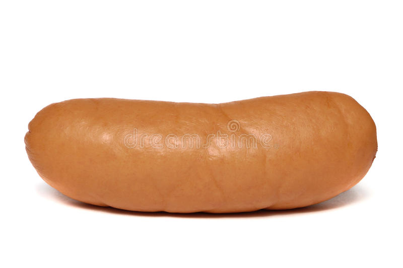 Big isolated sausage royalty free stock photo